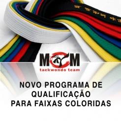 programa de qualificação de faixas coloridas no taekwondo